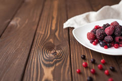 Frozen berry mix Royalty Free Stock Images