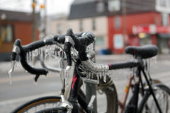 Frozen bicycle Royalty Free Stock Image
