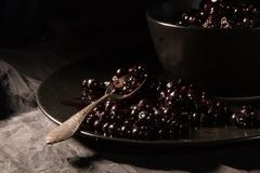 Frozen blackberries and currants Royalty Free Stock Photo