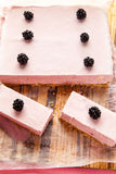 Frozen blackberry cheesecake Stock Image