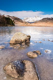 Frozen Blea Tarn portrait Stock Photo