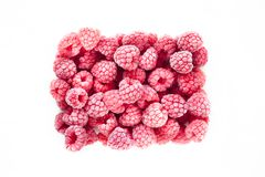 Free Frozen Block Of Red Raspberries Isolated On A White Background Royalty Free Stock Photos - 163415128