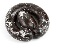 Frozen blood sausage Royalty Free Stock Image