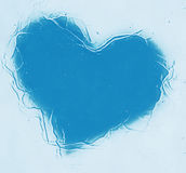 Frozen blue heart bsckgrounds. Frozen blue heart bsckground texture Royalty Free Stock Photography