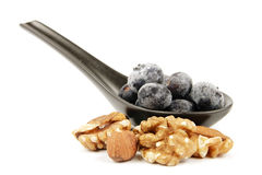 Frozen Blueberries And Nuts Royalty Free Stock Photo
