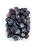 Frozen blueberries. Isolated on white backgrounds Royalty Free Stock Images
