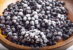 Frozen blueberries Royalty Free Stock Image