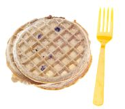 Frozen Blueberry Waffle with Fork Stock Photography