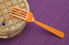 Frozen Blueberry Waffles Stock Image