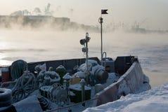 Frozen boat Stock Photos