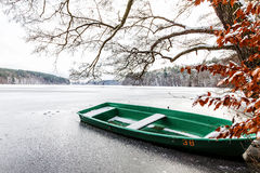 Frozen boat Stock Photography