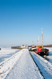 Frozen boats Royalty Free Stock Image