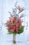 Frozen bouquet of flowers Stock Photo