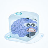 Frozen brain Stock Image