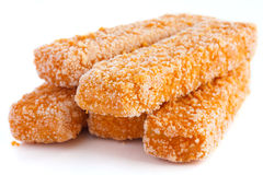 Frozen bread crumbed fish fingers Royalty Free Stock Photography