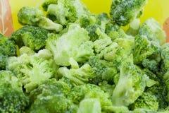 Frozen broccoli. Green frozen broccoli close up Stock Photography