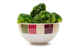 Frozen broccoli in a bowl Royalty Free Stock Photos