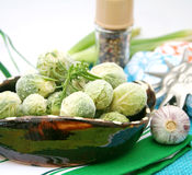 Frozen brussels Stock Photography
