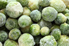 Frozen brussels sprouts. Close-up Royalty Free Stock Photos