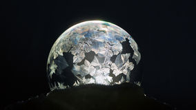 Frozen bubble close-up, winter holidays background, Stock Photography