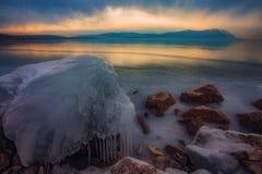 Frozen Busko lake Royalty Free Stock Images
