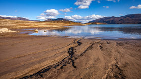 Frozen Busko lake Royalty Free Stock Photography