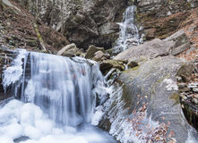 Frozen Buttermilk Falls Royalty Free Stock Images
