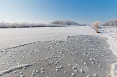 Frozen canal Stock Photo