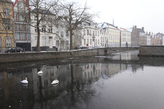 Frozen canal Royalty Free Stock Photos