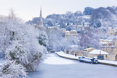 Frozen Canal, Bath, Uk Stock Photos