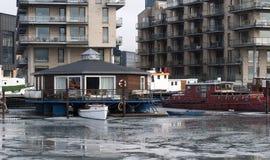 Frozen canal in Copenhagen Royalty Free Stock Photo