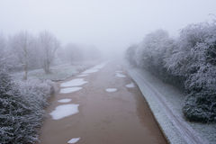 Frozen Canal Royalty Free Stock Photo
