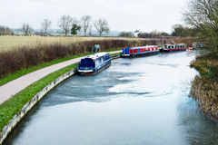 Frozen canal water Stock Image