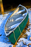 Frozen Canoe Stock Photos