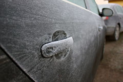 Frozen car Stock Photos