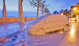 Frozen Car Royalty Free Stock Photography
