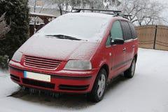 Frozen car Stock Photo