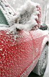 Frozen car Stock Image