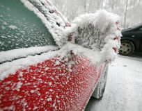Frozen car Stock Photo
