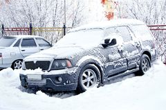 Frozen car Stock Images