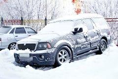 Frozen car Stock Images
