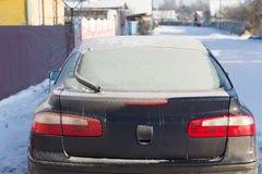 Frozen car Stock Photography