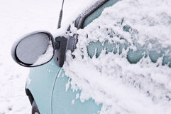 Frozen car in winter Stock Photography