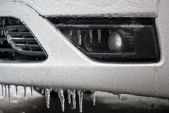 Frozen car detail Royalty Free Stock Photography