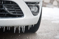 Frozen car detail Royalty Free Stock Image