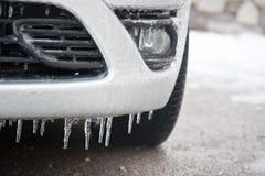 Frozen car detail Royalty Free Stock Image