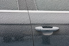 Frozen car door Stock Photos