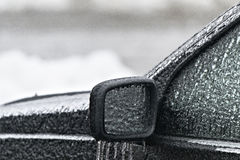 Frozen Car. A car after an ice storm Royalty Free Stock Photo