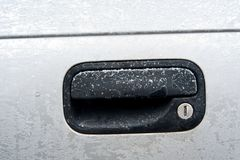 Frozen car lock Stock Photography