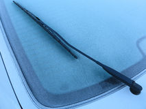 Frozen car window royalty free stock photography